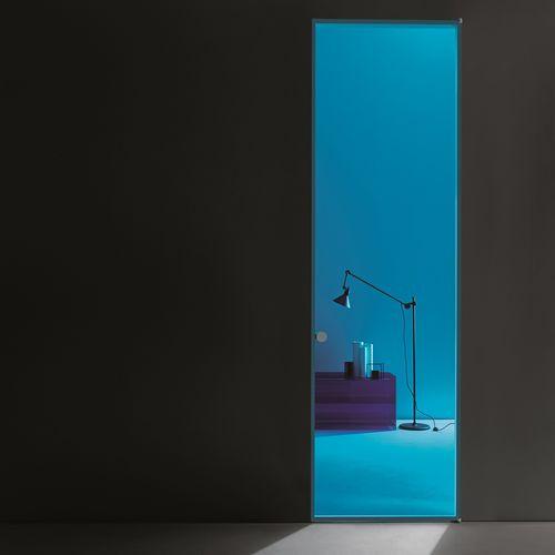 Tür für Innenbereich / einflügelig / Glas / Aluminium