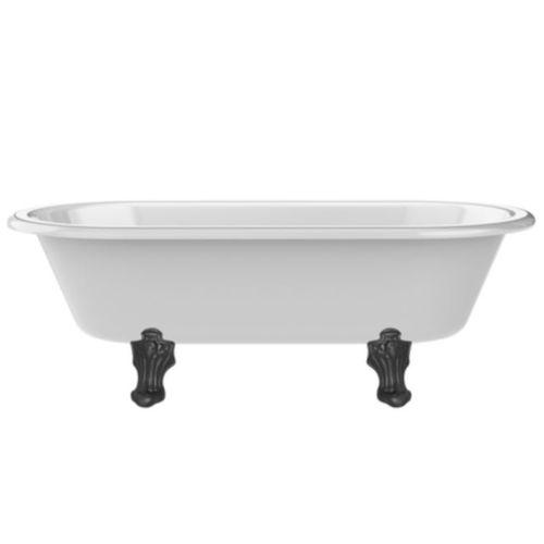 Badewanne auf Füßen / oval / Marmor / aus Acryl