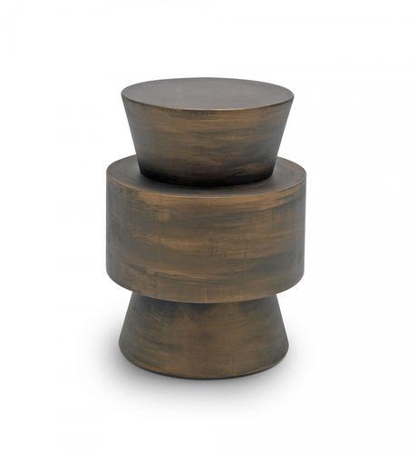 moderner Beistelltisch / Massivholz / lackiertes Holz / rund
