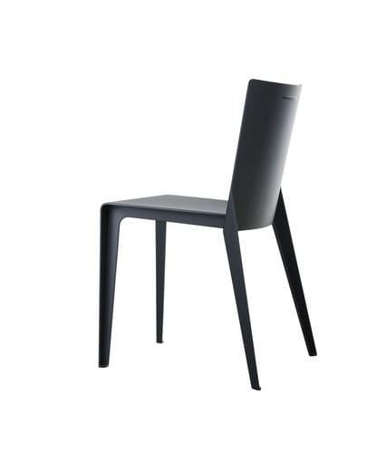 moderner Stuhl / Verbundwerkstoff / grau / beige