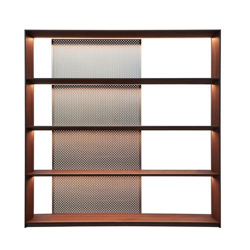 moderne Bibliothek / Holz / Aluminium