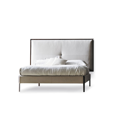 Doppelbett / modern / Polster / gepolstertes Kopfteil