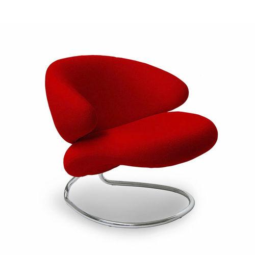 moderner Stuhl / Polster / mit Rollen / sternförmiger Fuß
