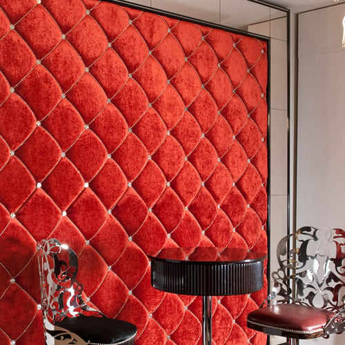 Stoff-Dekorplatte / Leder / wandmontiert / Struktur