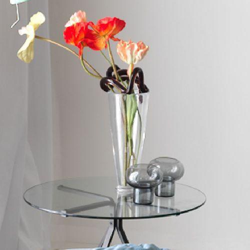 Kerzenhalter / geblasenes Glas