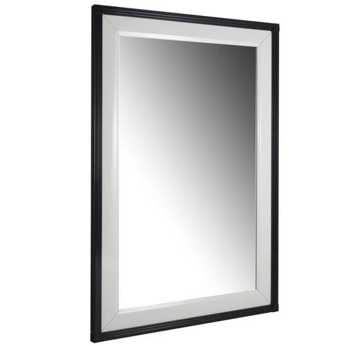 wandmontierter Spiegel / modern / rechteckig / lackiertes Holz