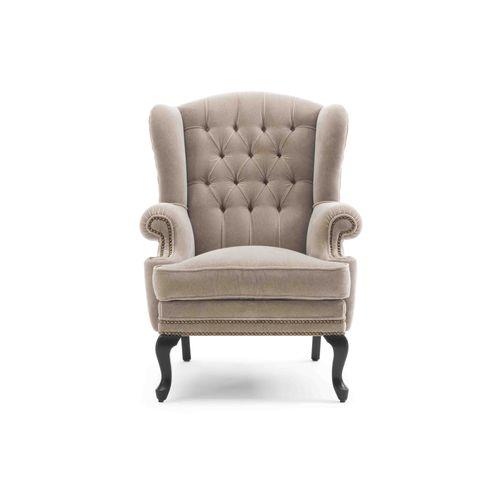 klassischer Sessel / Stoff / Massivholz / aus Esche