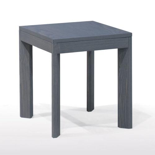 moderner Hocker / aus Esche / quadratisch / Standard-Fußgestell