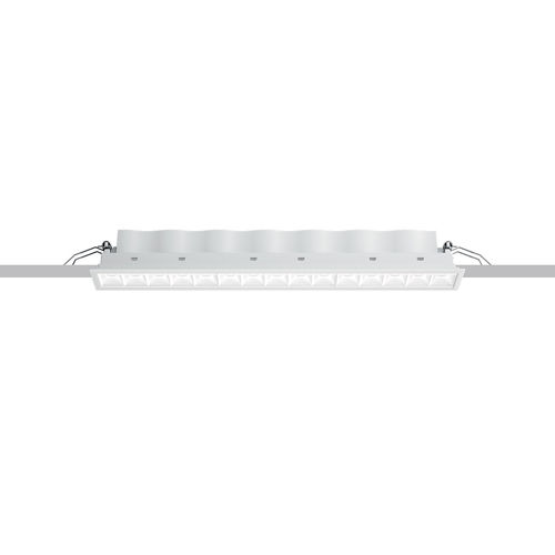 LED-Downlight / linear / Aluminiumguss / Thermoplast