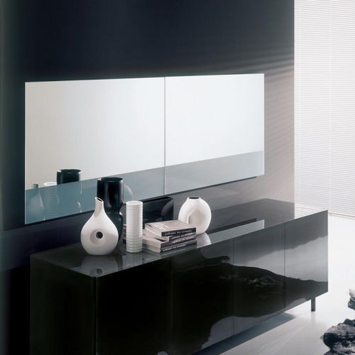 wandmontierter Spiegel / modern / rechteckig