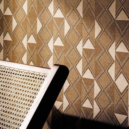 moderne Tapete / Vinyl / mit geometrischem Muster / grau