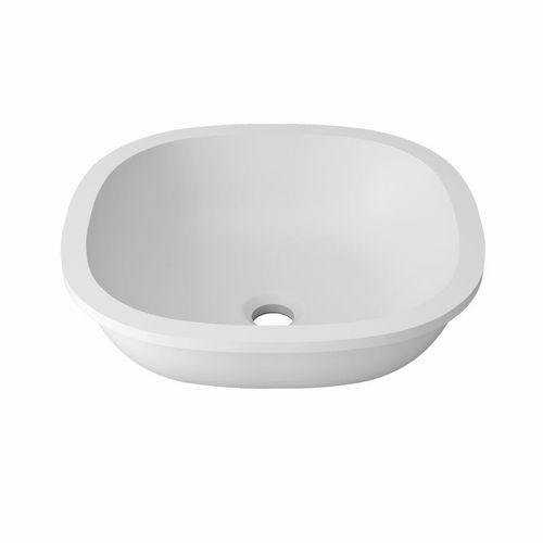 Unterbauwaschbecken / Mineralwerkstoff / aus Krion® / modern
