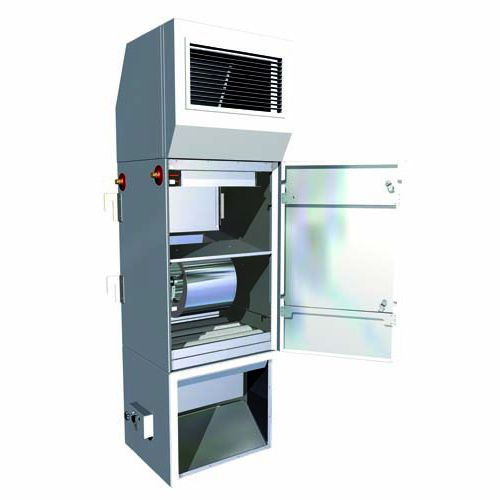 Heißwasser-Lufterhitzer / freistehend / zentrifugal