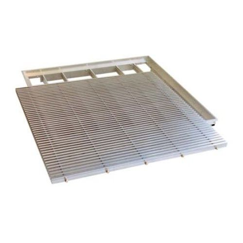 Aluminium-Lüftungsgitter / quadratisch / für Doppelböden