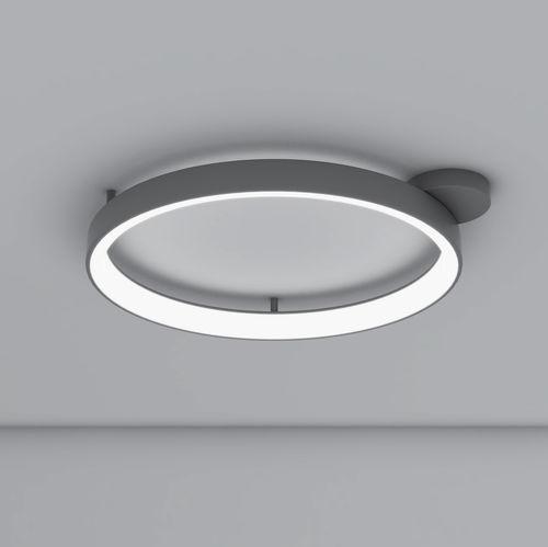 Deckenleuchte / originelles Design / rund / gestrichenes Aluminium / aus Methacrylat