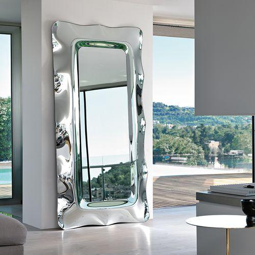 wandmontierter Spiegel / Stand / modern / rechteckig