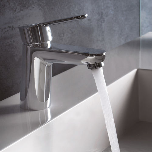 Einhebelmischer für Waschtisch / verchromtes Metall / Badezimmer / 1-Loch