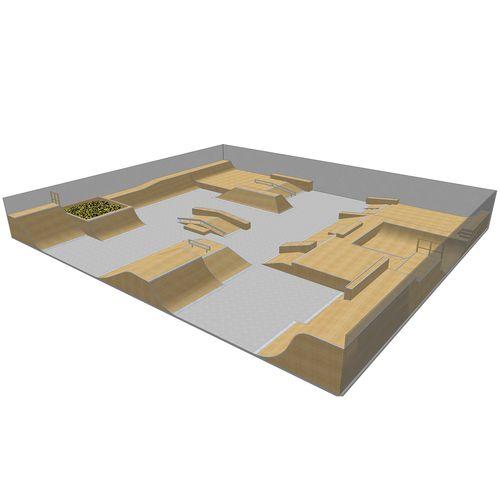 Holz-Skatepark