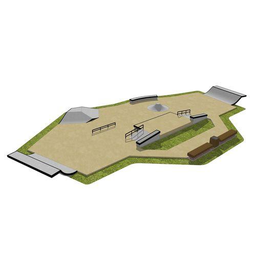 Beton-Skatepark / monolithisch