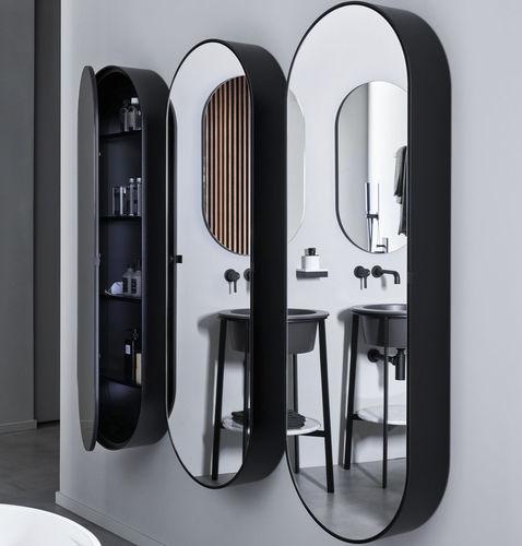 wandmontierter Spiegel / mit Regal / hängend / mit Stauraum