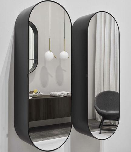 wandmontierter Spiegel / modern / oval / für Schönheitssalon