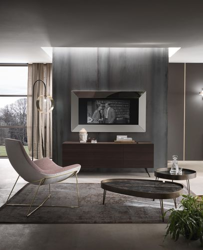 wandmontierter TV-Spiegel / modern / rechteckig / quadratisch