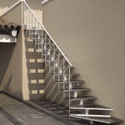 gerade Treppe / viertelgewendelt / Metallstruktur / gerade Stufen Metall