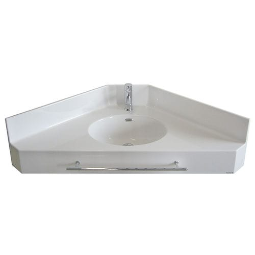Wand-Waschbecken / für Eckeinbau / Pietraluce® / modern