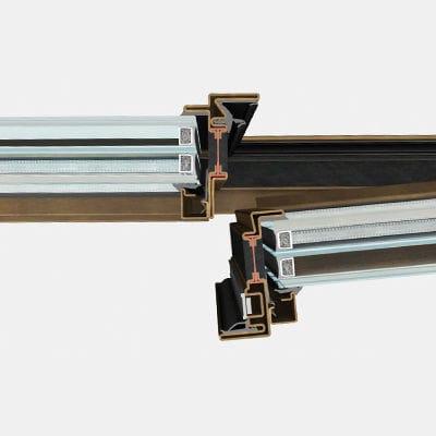 Stahl-Fensterprofil / mit Wärmedämmung
