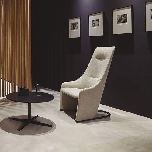 moderner Sessel / Stoff / Stahl / mit hoher Rückenlehne