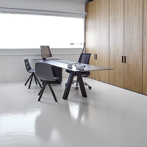 Schreibtisch aus Eiche / modern / Contract