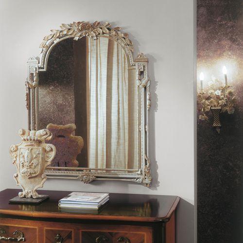 wandmontierter Spiegel / Louis XVI / Holz