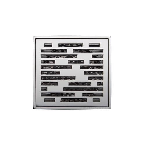 Edelstahl-Bodenablauf / für Duschen / quadratisch