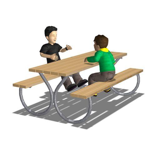 klassischer Picknicktisch