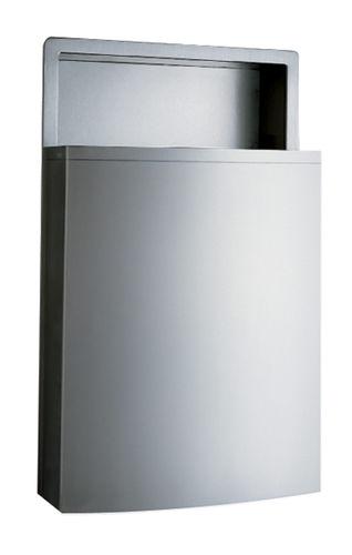 hygienischer Abfallbehälter / Einbau / Edelstahl / modern