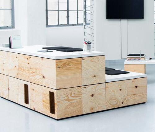 Holz-Aufbewahrungsbox / mit Deckel