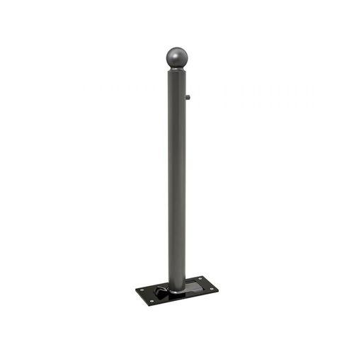 Sicherheits-Sperrpfosten / verzinkter Stahl / abnehmbar / hoch