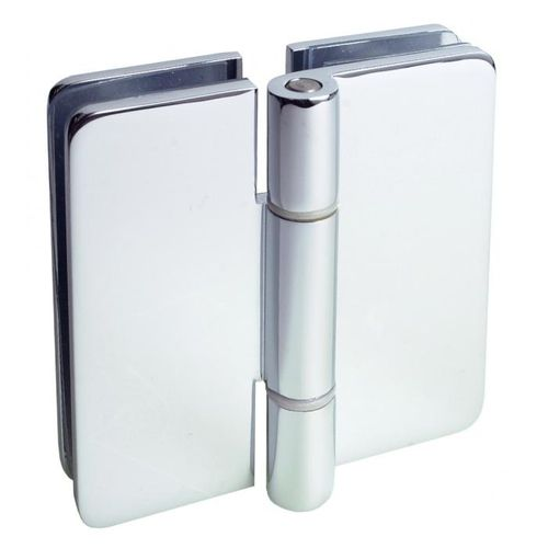 Glastüren-Scharnier / für Duschen / Messing / poliertes Messing