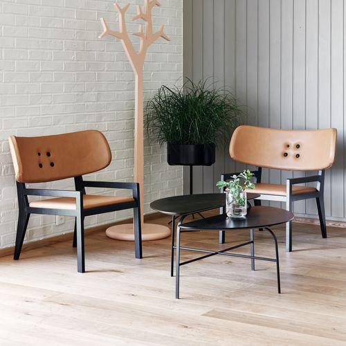 Sessel / skandinavisches Design / aus Eiche / Massivholz