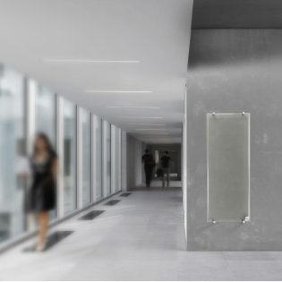 Infrarotheizkörper / Vorderseite aus Hartglas / modern / transparent