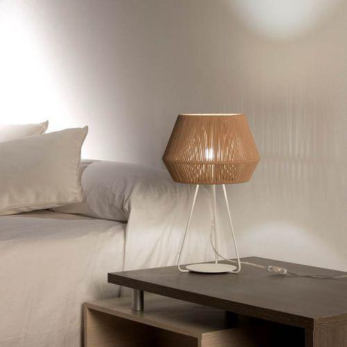 Tischgerät-Lampe / modern / Metall / Kordel