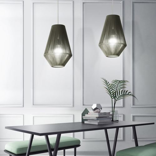 Hängelampe / modern / Metall / Kordel