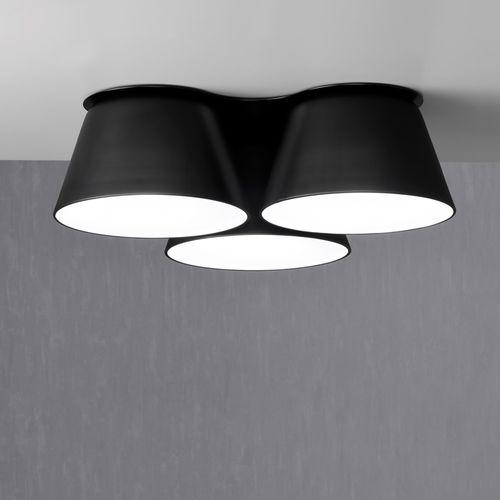 moderne Deckenleuchte / rund / Metall / aus Acryl