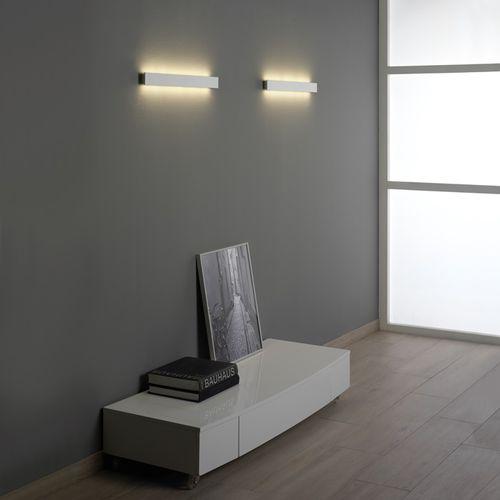 minimalistische Wandleuchte / Wohnzimmer / Aluminium / Holz