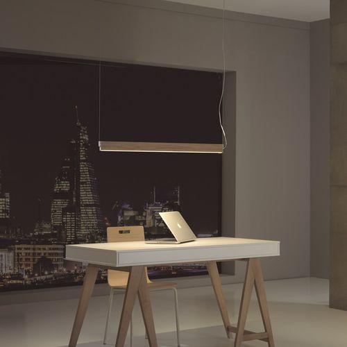 Hängelampe / minimalistisch / Aluminium / Holz