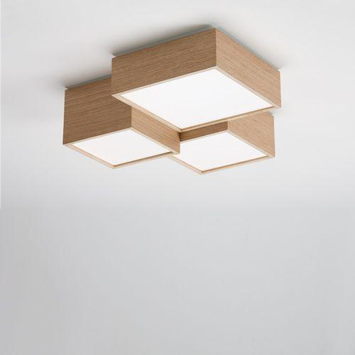 Deckenleuchte / originelles Design / quadratisch / Metall / PMMA