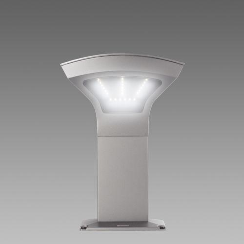 moderner Leuchtpoller / Aluminiumguss / Polycarbonat / LED