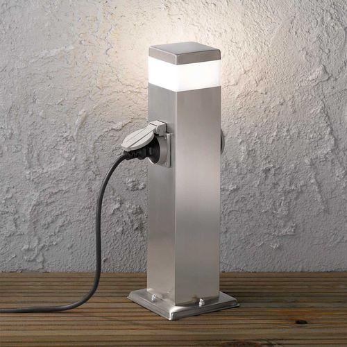 Garten-Leuchtpoller / modern / gebürsteter Edelstahl / LED