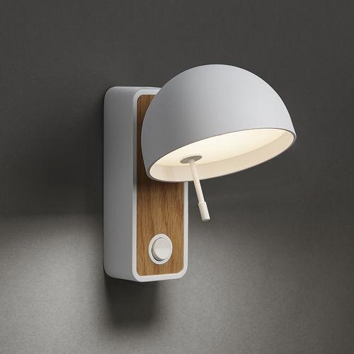 moderne Wandleuchte / Aluminium / LED / weiß