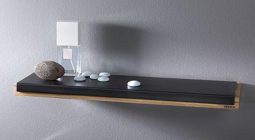 wandmontiertes Regal / modern / aus Teakholz / Polyurethan